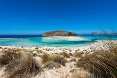 Härlig sandig strand Arkivfoton