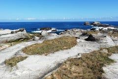 Härlig sandstenerosionkustlinje i Kenting av Taiwan Fotografering för Bildbyråer