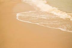 Härlig sandstrand Arkivfoton