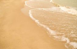Härlig sandstrand Fotografering för Bildbyråer
