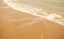 Härlig sandstrand Arkivbild