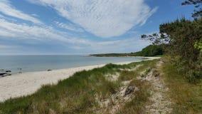Härlig scenisk strand, Bornholm Danmark Royaltyfria Foton