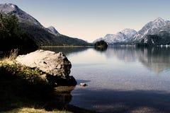 Härlig schweizisk liggande av engadin arkivfoto