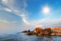 härlig seascape Fotografering för Bildbyråer
