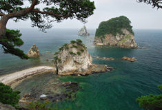 Härlig seascape, hav av Japan, Primorye, Ryssland Royaltyfria Foton