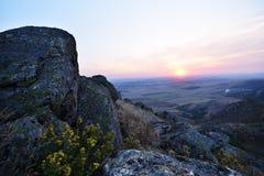 Härlig seascape på soluppgång, Tuzla, Rumänien Royaltyfria Foton