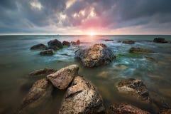 Härlig Seascape paradis för natur för sammansättningsdesignelement Royaltyfria Foton