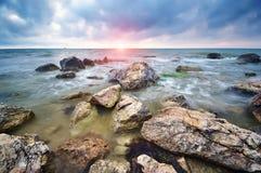Härlig Seascape paradis för natur för sammansättningsdesignelement Arkivfoto