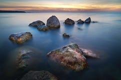 Härlig Seascape paradis för natur för sammansättningsdesignelement Royaltyfri Bild