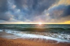 Härlig Seascape paradis för natur för sammansättningsdesignelement Royaltyfria Bilder