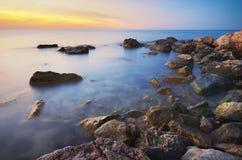 Härlig Seascape paradis för natur för sammansättningsdesignelement Arkivbild