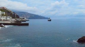 Härlig segelbåt Funchal, madeira, Portugal Royaltyfri Bild