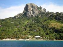 Härlig semesterort i Fiji Arkivbilder