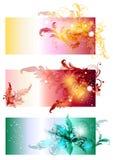härlig set för baner swirly Vektor Illustrationer
