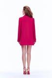 Härlig sexig koagulering för mode för stil för kontor för brunettkvinnaaffär royaltyfria foton