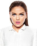 Härlig sexig stilfull modell med ljus makeup Royaltyfri Fotografi