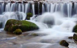Härlig Shipot vattenfallkaskad i Carpathian berg, Ukraina Fotografering för Bildbyråer