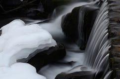 Härlig Shipot vattenfallkaskad i Carpathian berg, Ukraina Royaltyfria Bilder