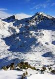 Härlig sikt över bergen uppifrån av det Retezat maximumet, Rumänien Royaltyfria Bilder
