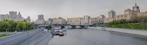 Härlig sikt av aftonMoskva Royaltyfri Foto