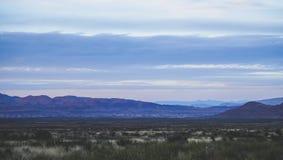 Härlig sikt av berg på den stora krökningnationalparken Arkivfoto