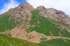 Härlig sikt av bergen Arkivbilder