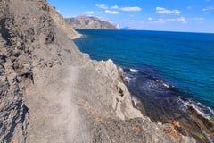 Härlig sikt av bergen och havet Royaltyfri Bild