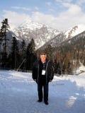 Härlig sikt av de Kaukasus bergen Fotografering för Bildbyråer