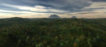 Härlig sikt av den bergiga terrängen Arkivfoton