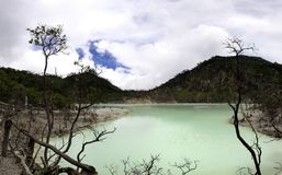 Härlig sikt av den enorma gröna sjön Arkivbild