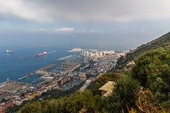 Härlig sikt av den Gibraltar staden Royaltyfri Foto