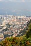 Härlig sikt av den Gibraltar staden Fotografering för Bildbyråer