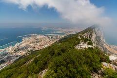Härlig sikt av den Gibraltar staden Arkivbilder