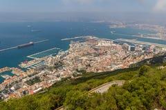 Härlig sikt av den Gibraltar staden Arkivbild