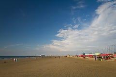 Härlig sikt av den Murcielago stranden i Manta Royaltyfri Bild
