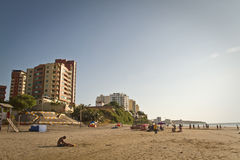 Härlig sikt av den Murcielago stranden i Manta Royaltyfri Fotografi
