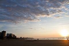 Härlig sikt av den Murcielago stranden i Manta Arkivfoton