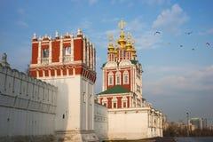 Härlig sikt av den Novodevichy kloster i Moskva, Ryssland Royaltyfri Foto