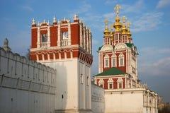 Härlig sikt av den Novodevichy kloster i Moskva, Ryssland Fotografering för Bildbyråer