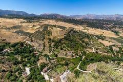 Härlig sikt av den Ronda regionen, Spanien Arkivbilder