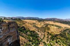 Härlig sikt av den Ronda regionen, Spanien Arkivfoto