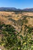 Härlig sikt av den Ronda regionen, Spanien Royaltyfri Bild