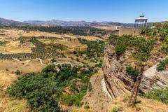 Härlig sikt av den Ronda regionen, Spanien Arkivbild