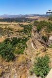 Härlig sikt av den Ronda regionen, Spanien Fotografering för Bildbyråer