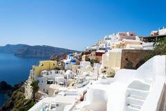 Härlig sikt av den Santorini ön, Grekland Arkivbild