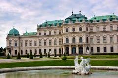 Härlig sikt av den Schloss belvederen i Wien, Österrike, Europa a arkivbilder