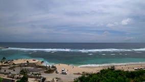 Härlig sikt av den tropiska stranden, härligt hav asia stock video