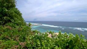 Härlig sikt av den tropiska stranden, härligt hav asia arkivfilmer