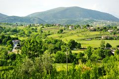 Härlig sikt av den Tuscan bygden Arkivfoto