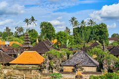 Härlig sikt av den Ubud staden från taket på den Bali ön, Indone Arkivbilder